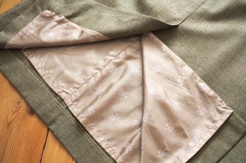 Как обработать подкладочную ткань