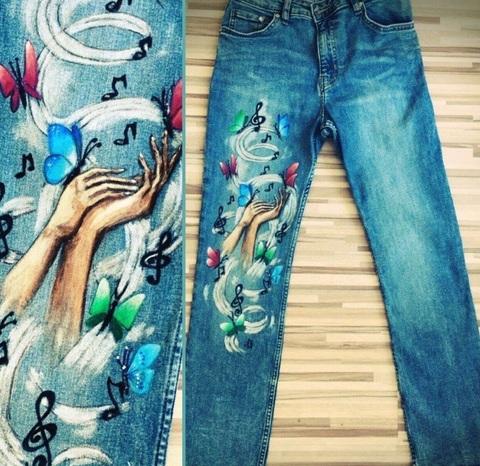 Как осветлить и покрасить джинсовую ткань?
