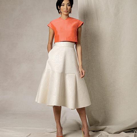 Как выбрать ткань для юбки по типу фасона