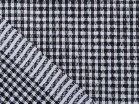 Ткань UNI CHECK SML-2 BLACK