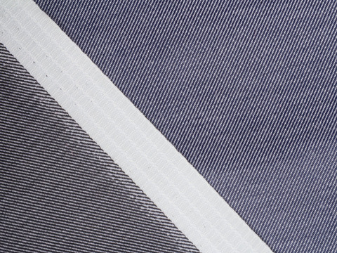 Ткань DOUBLE FACE PLN-C003(black-navy)