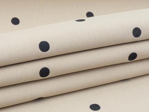 Ткань MASTER POLKA PRT-D01 C002(beige-black)