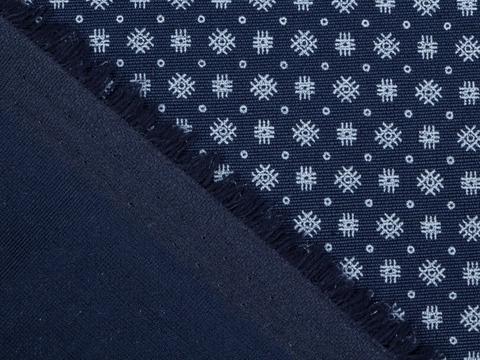 Ткань BREAD PRT-D05 C002(navy-white)