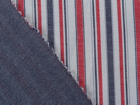 Ткань DOUBLE FACE STP-D02 C001(navy-red)