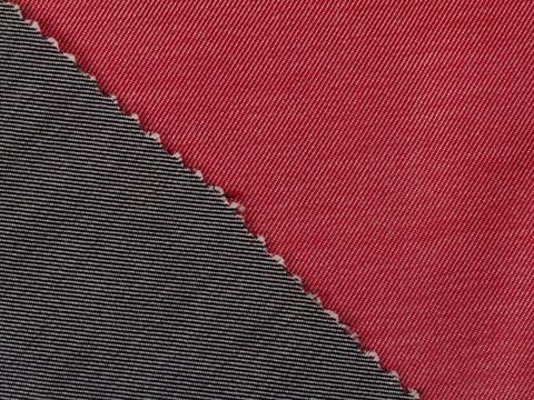Ткань DOUBLE FACE PLN-C002(black-red)
