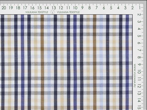 Ткань VERY ZARANO CHK-C112(navy-beige)