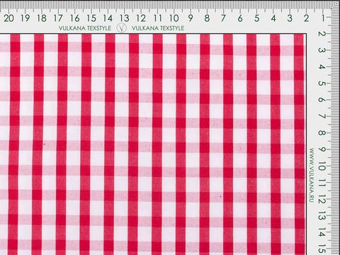 Ткань ZARANO BLOCK CHK-C002(red)