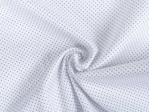 Ткань K POLKA PRT-C001(white-navy)