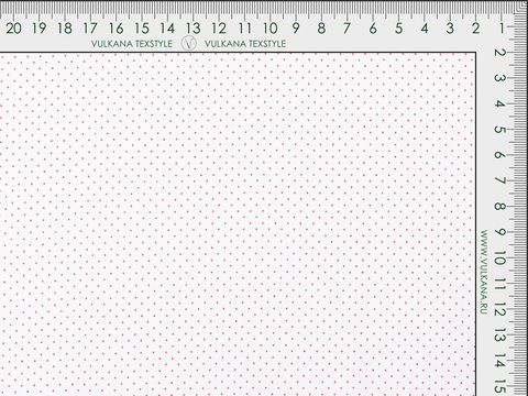 Ткань K POLKA PRT-C003(white-red)