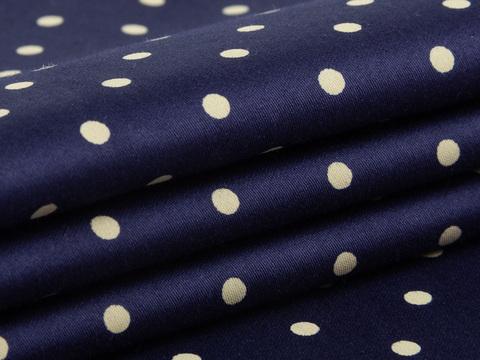 Ткань BUTTER POLKA PRT-D02 C001(navy-beige)