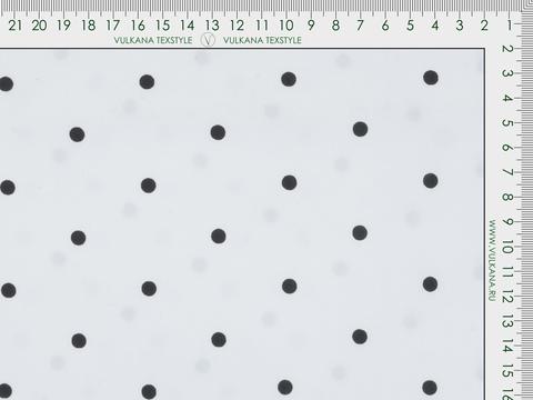 Ткань MASTER POLKA PRT-D01 C001(white-black)